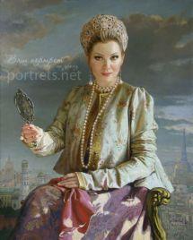 Портрет Лены Лениной 100х80