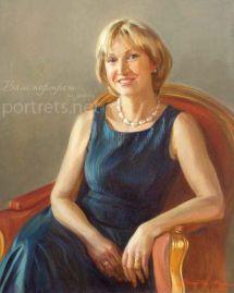 Женский портрет 80х60 см